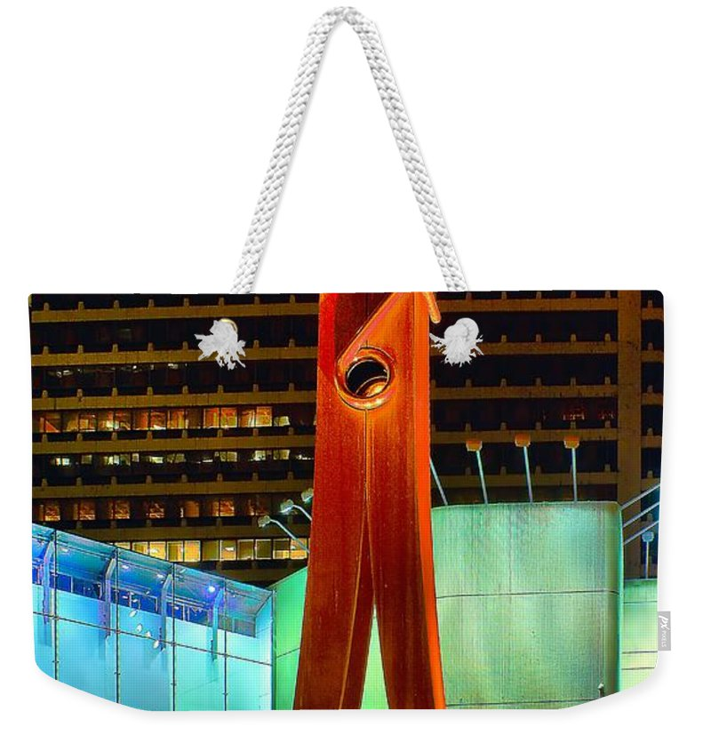 Clothespin Weekender Tote Bag featuring the photograph The Clothes Pin by Nick Zelinsky