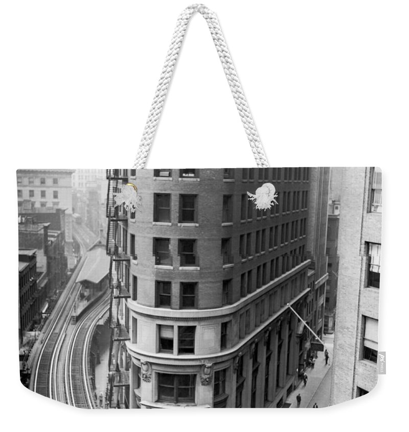 1939 Weekender Tote Bag featuring the photograph The Cocoa Exchange Building by Underwood Archives