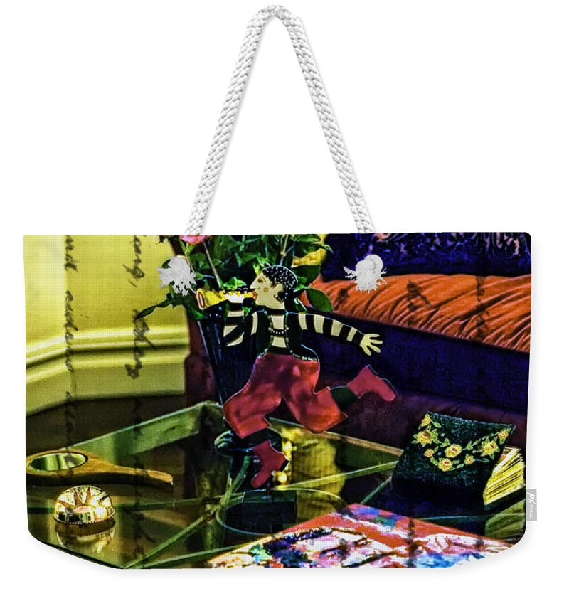 Coffee Table Weekender Tote Bag featuring the photograph The Coffee Table by Madeline Ellis
