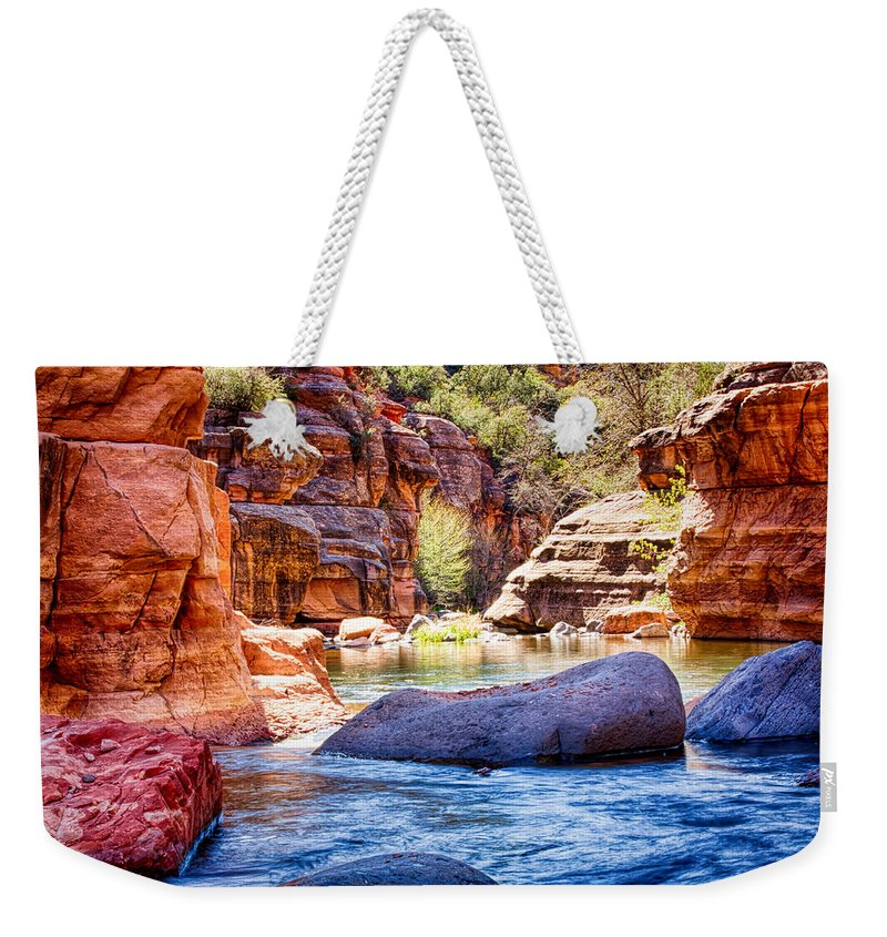 Fred Larson Weekender Tote Bag featuring the photograph The Colors Of Oak Creek by Fred Larson