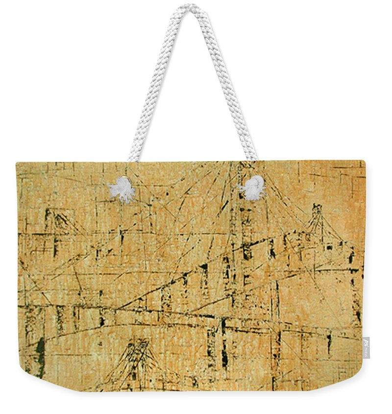 The Commute Weekender Tote Bag featuring the painting The Commute by Pamela Canzano