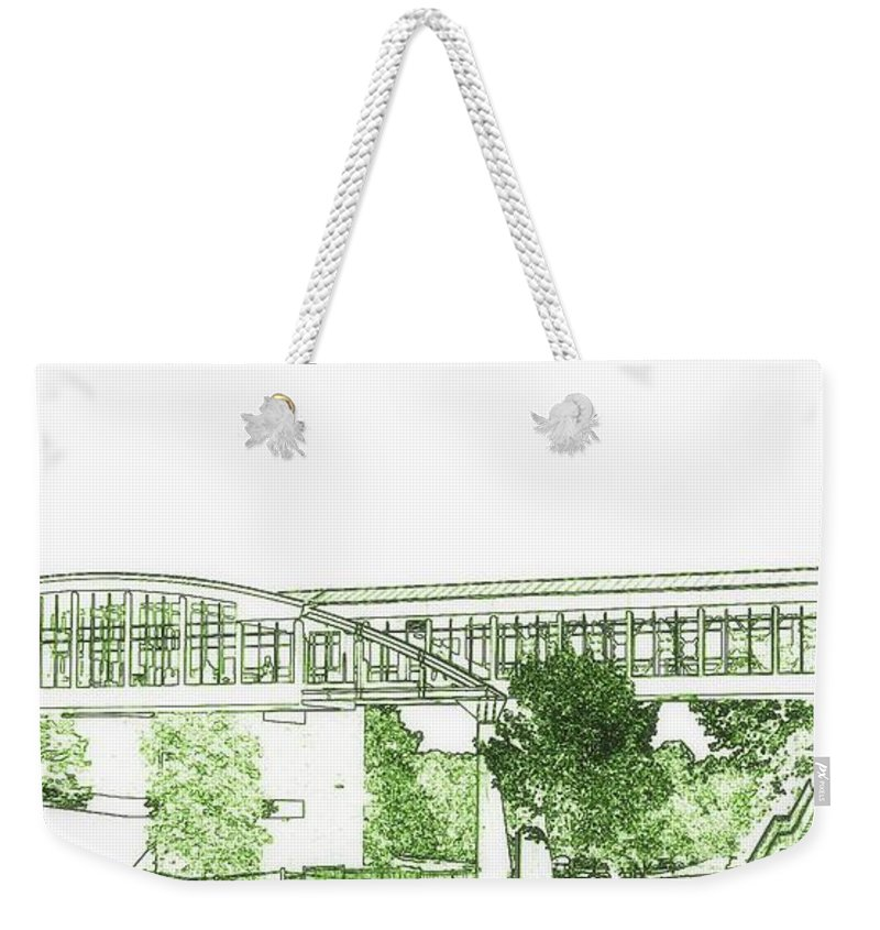 Weekender Tote Bag featuring the photograph The Covered Bridge by Kelly Awad