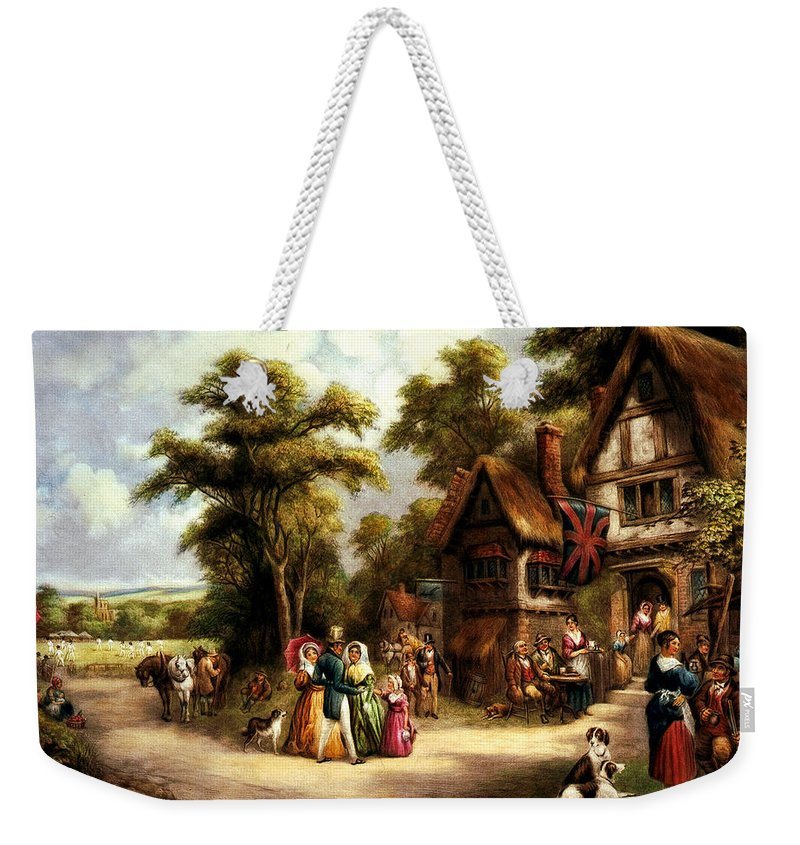 The Cricket Match Weekender Tote Bag featuring the digital art The Cricket Match by Unknown