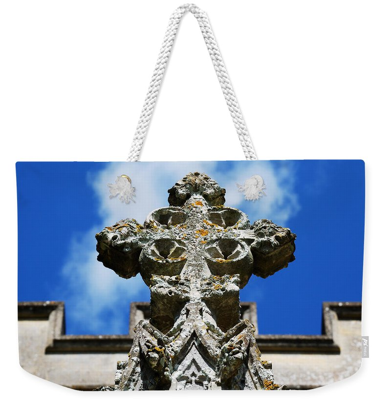 Cross Weekender Tote Bag featuring the photograph The Cross And The Tower by Wendy Wilton