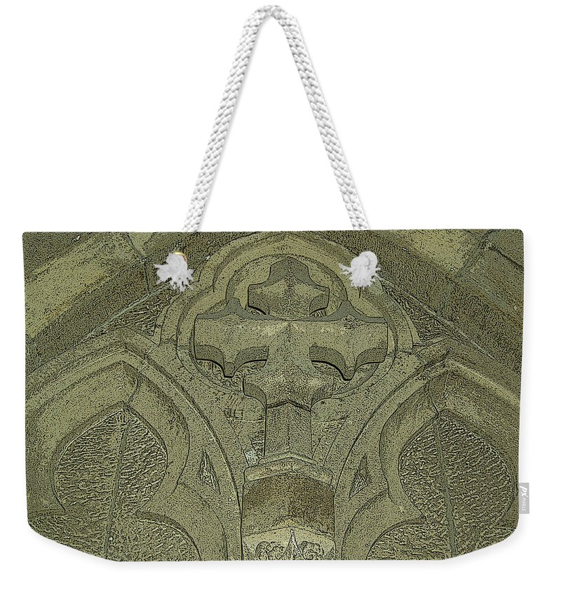Church Weekender Tote Bag featuring the photograph The Cross by Lovina Wright