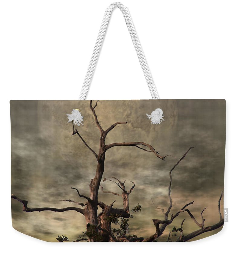 Crow Weekender Tote Bag featuring the digital art The Crow Tree by Abbie Shores