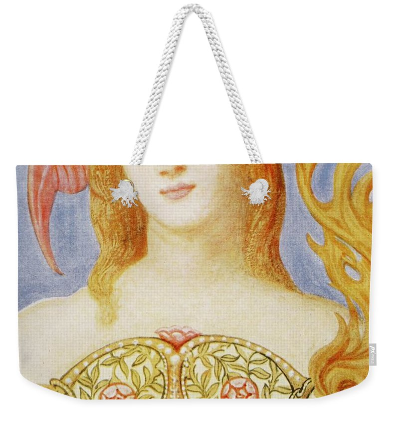 Female Weekender Tote Bag featuring the painting The Crown Of Peace by Sir William Blake Richmond