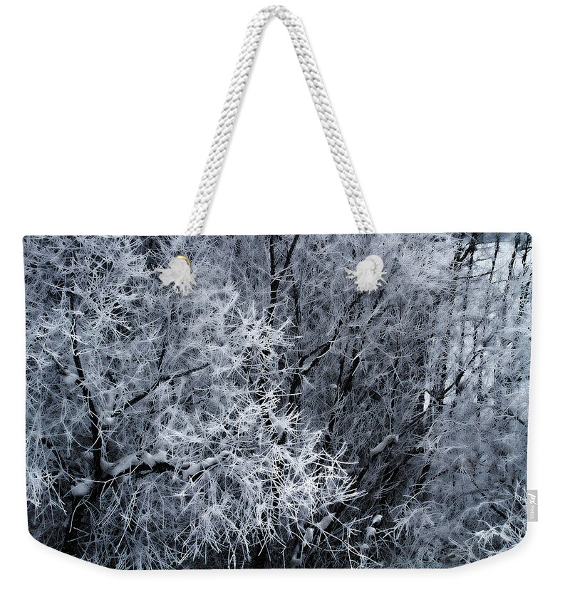 Ice Forest Photograph Weekender Tote Bag featuring the photograph The Crystal Forest by Jim Garrison