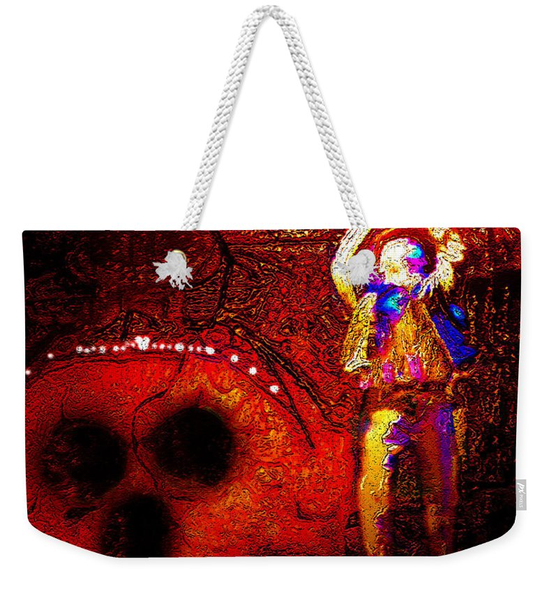 Indiana Jones Weekender Tote Bag featuring the painting The Crystal Mouse by David Lee Thompson