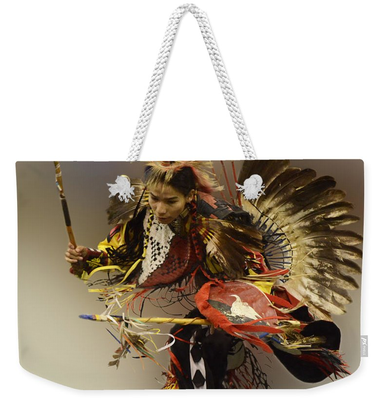 Pow Wow Weekender Tote Bag featuring the photograph Pow Wow The Dance by Bob Christopher