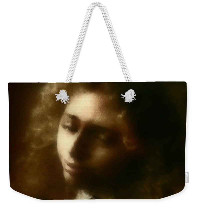Girl Weekender Tote Bag featuring the painting The Daydream by RC deWinter