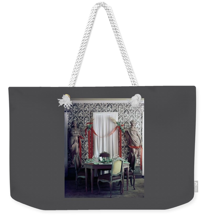 New York City Weekender Tote Bag featuring the photograph The Dining Room In James A. Beard's Home by Richard Jeffery