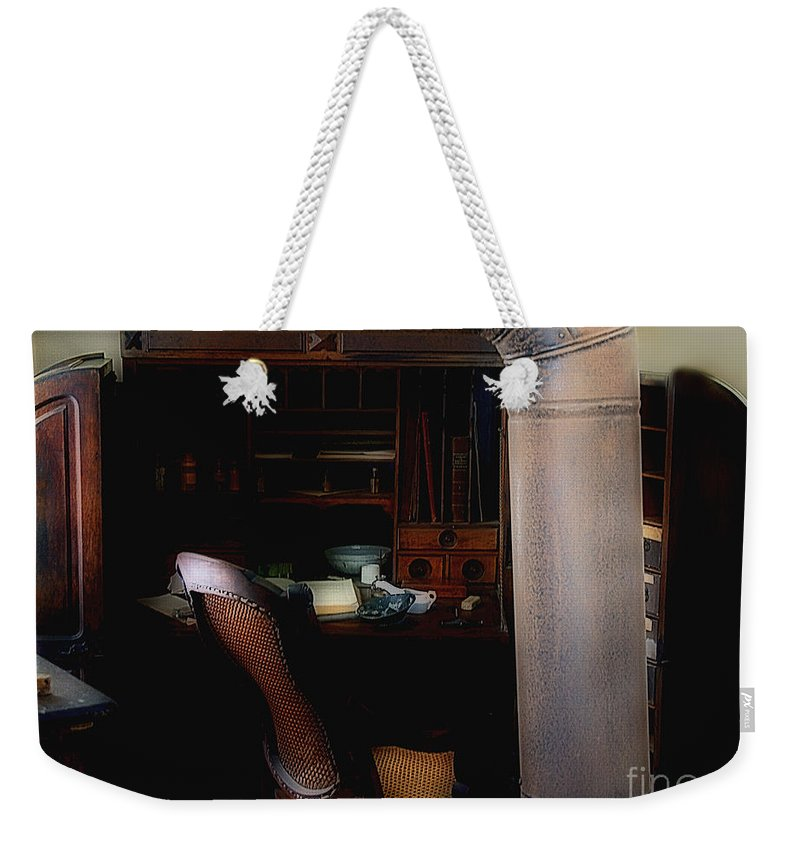 Antiques Weekender Tote Bag featuring the painting The Doctor Is Out by RC DeWinter