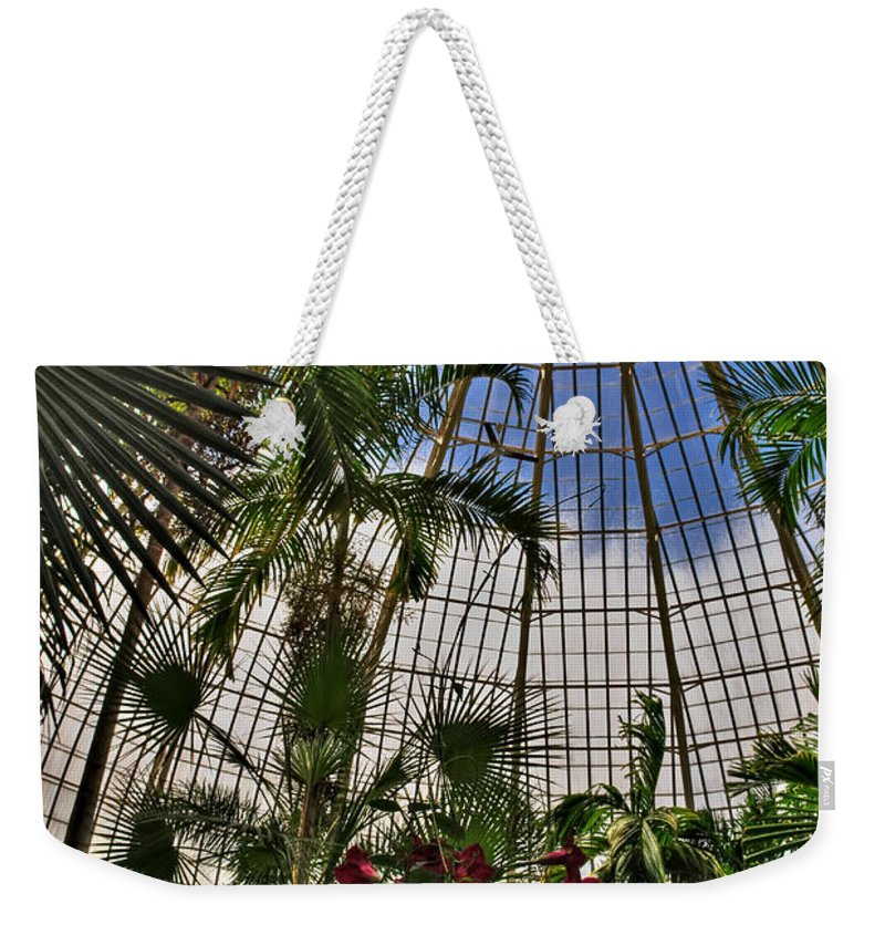Buffalo Botanical Gardens Weekender Tote Bag featuring the photograph The Dome 002 Buffalo Botanical Gardens Series by Michael Frank Jr