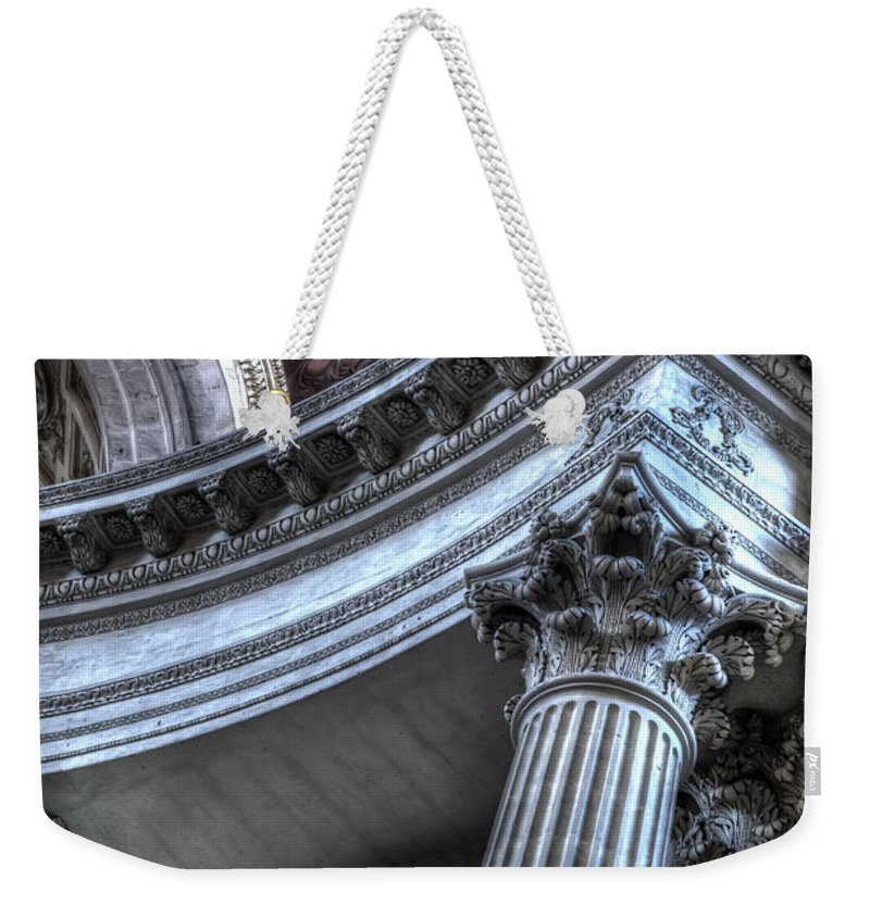 Arch Weekender Tote Bag featuring the photograph The Dome Of The Invalides Paris by Evie Carrier
