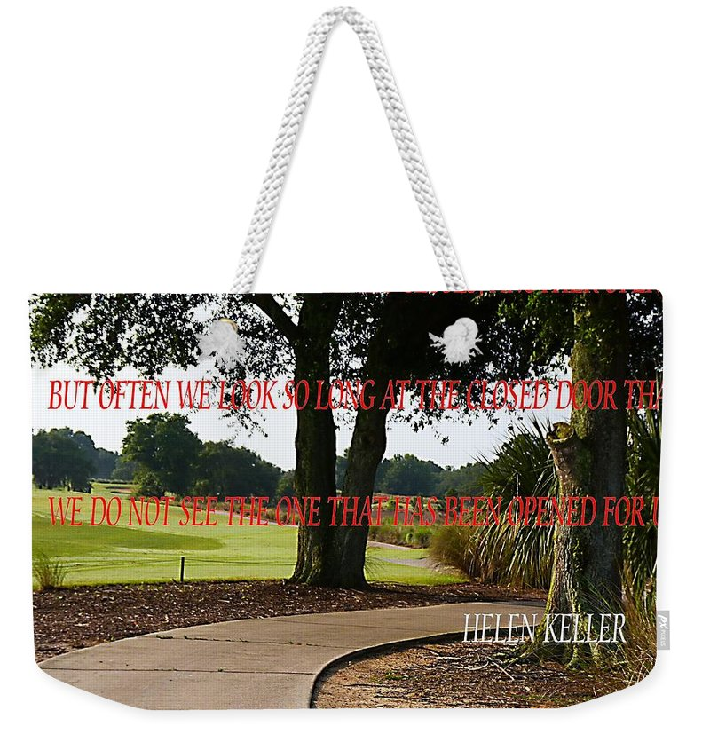 Weekender Tote Bag featuring the photograph The Doors Open by Anthony Walker Sr