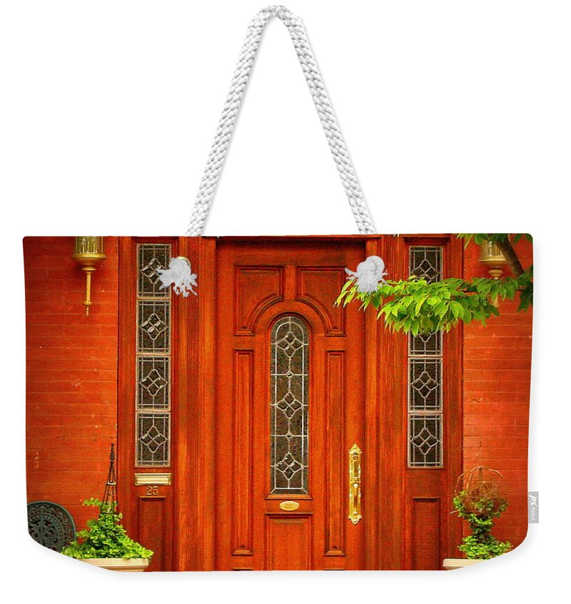 Fine Art Weekender Tote Bag featuring the photograph The Dream Door by Rodney Lee Williams