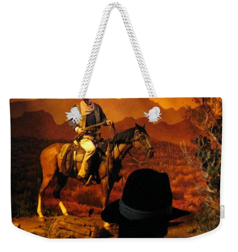 Horse And Rider Weekender Tote Bag featuring the photograph The Duke by John Malone