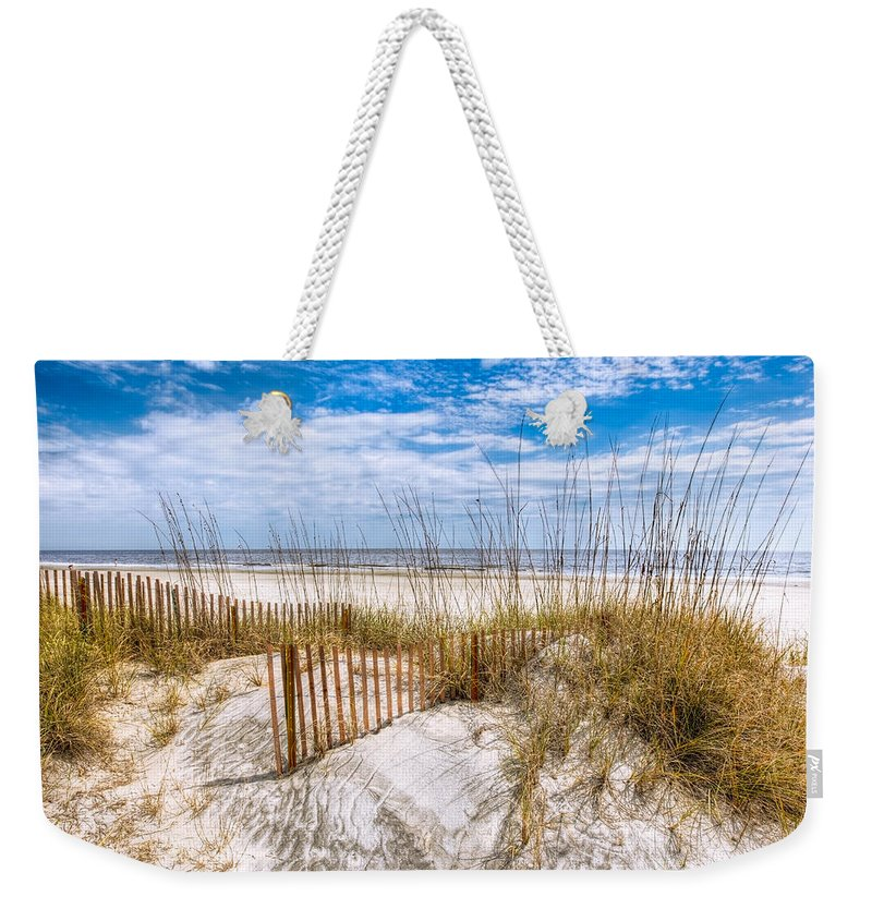 Clouds Weekender Tote Bag featuring the photograph The Dunes by Debra and Dave Vanderlaan