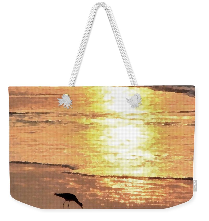 Landscape Weekender Tote Bag featuring the photograph The Early Bird by Todd A Blanchard