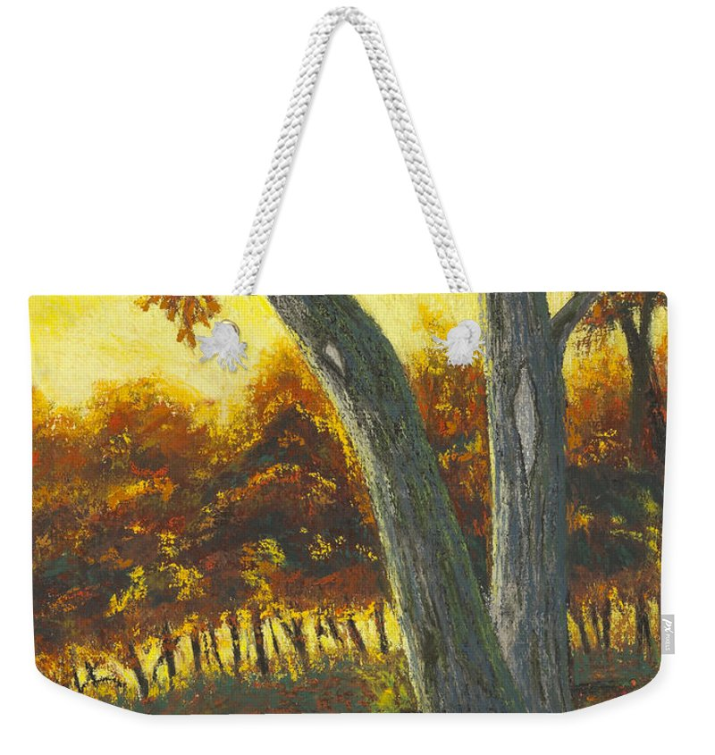 Trees Weekender Tote Bag featuring the painting The Elders by Garry McMichael
