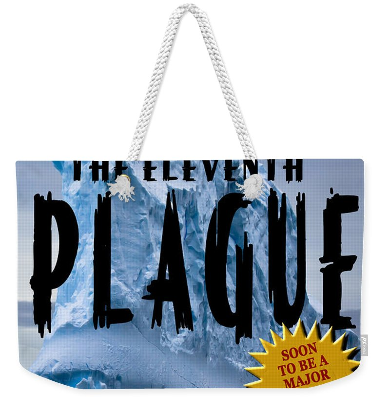 Book Cover Weekender Tote Bag featuring the photograph The Eleventh Plague Bookcover by Mike Nellums