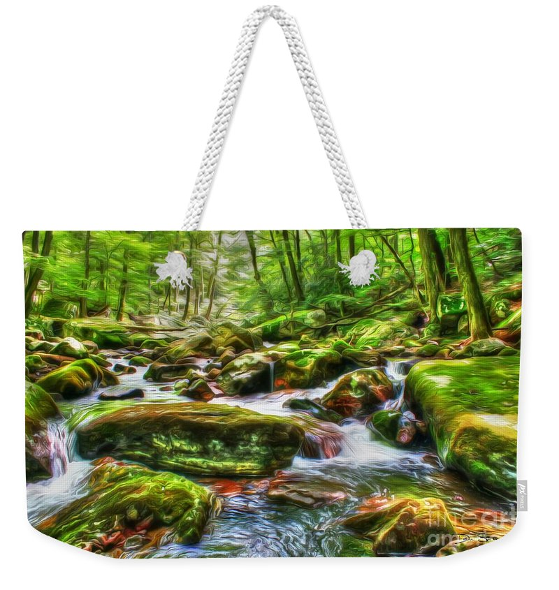 Day Weekender Tote Bag featuring the photograph The Emerald Forest 15 by Dan Stone