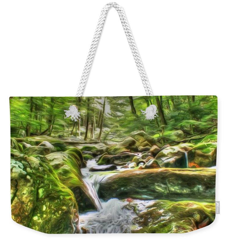 Day Weekender Tote Bag featuring the photograph The Emerald Forest 3 by Dan Stone