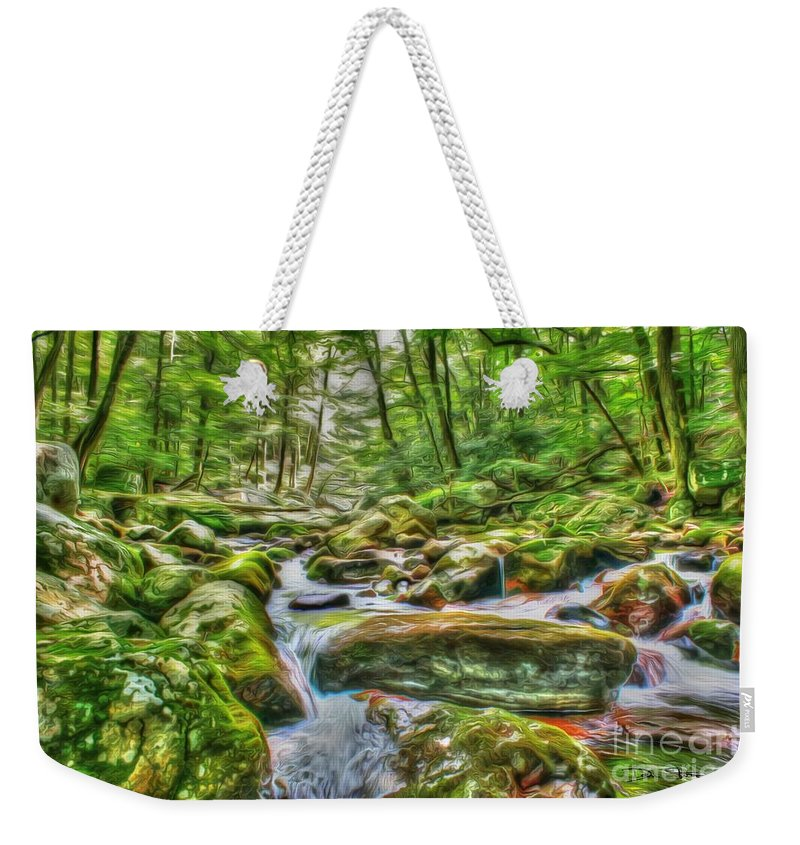 Day Weekender Tote Bag featuring the photograph The Emerald Forest 4 by Dan Stone