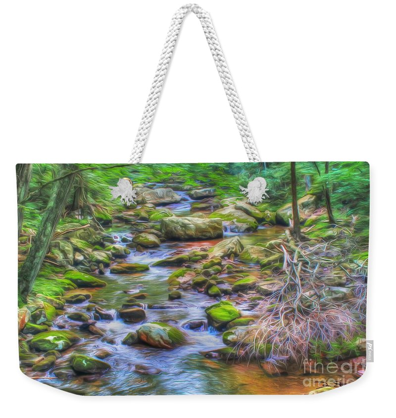 Day Weekender Tote Bag featuring the photograph The Emerald Forest 6 by Dan Stone