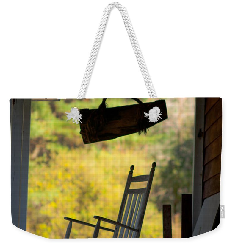 Weekender Tote Bag featuring the photograph The Empty Rocker by Scott Hafer