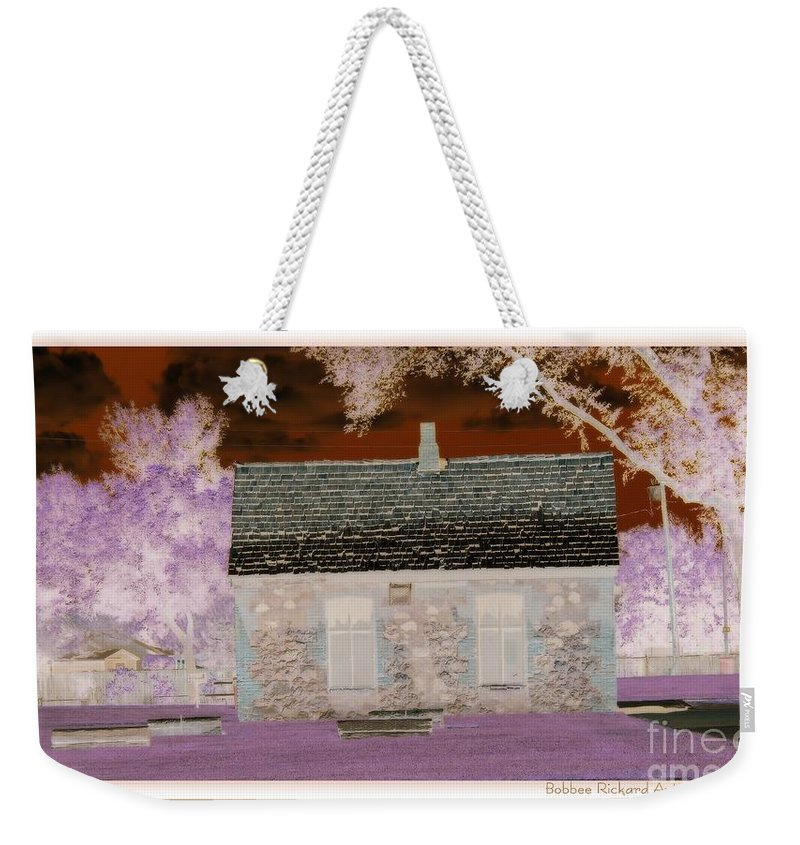 Enchanted Weekender Tote Bag featuring the photograph The Enchanted Cottage by Bobbee Rickard