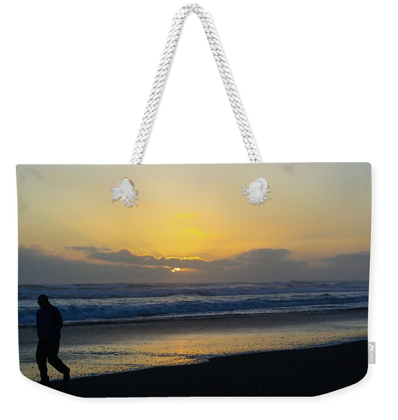 Sunset Weekender Tote Bag featuring the photograph The End Of Day by Tikvah's Hope