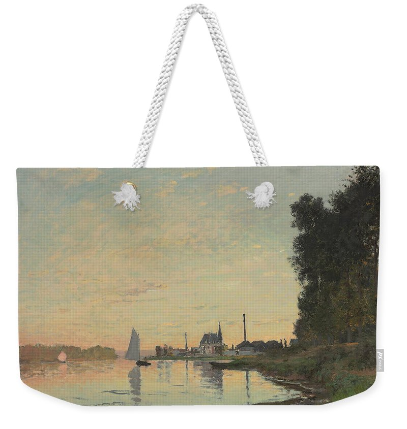 Boat Weekender Tote Bag featuring the painting The End Of The Afternoon by Claude Monet