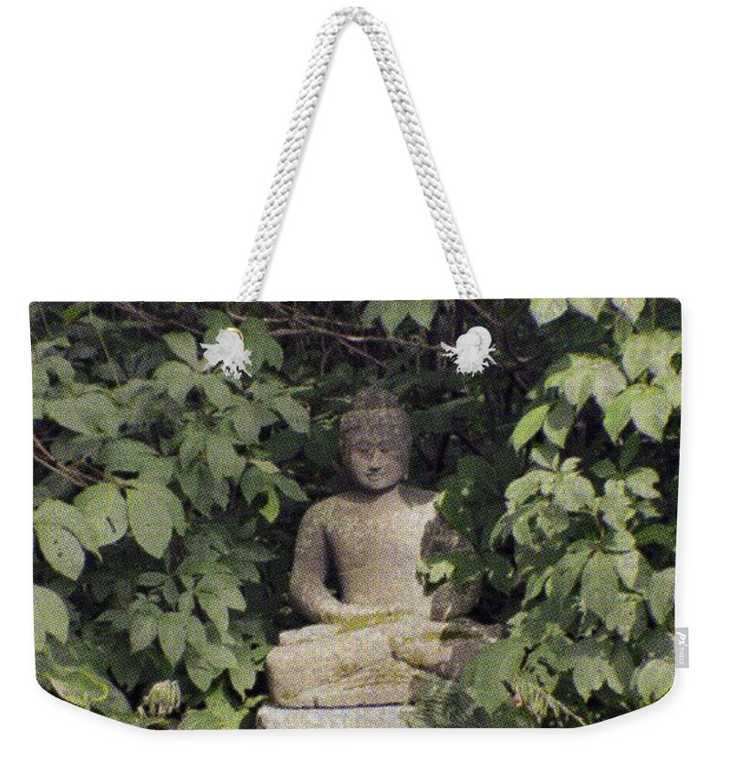 Enlightened Buddha Weekender Tote Bag featuring the photograph The Enlightened One by Sonali Gangane