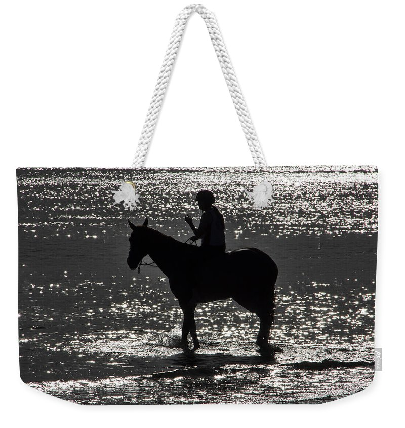 Equestrian Weekender Tote Bag featuring the photograph The Equestrian-silhouette by Douglas Barnard