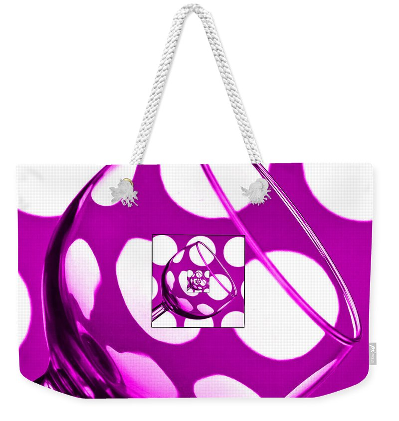 Wine Glass Weekender Tote Bag featuring the photograph The Eternal Glass Pink by Steve Purnell