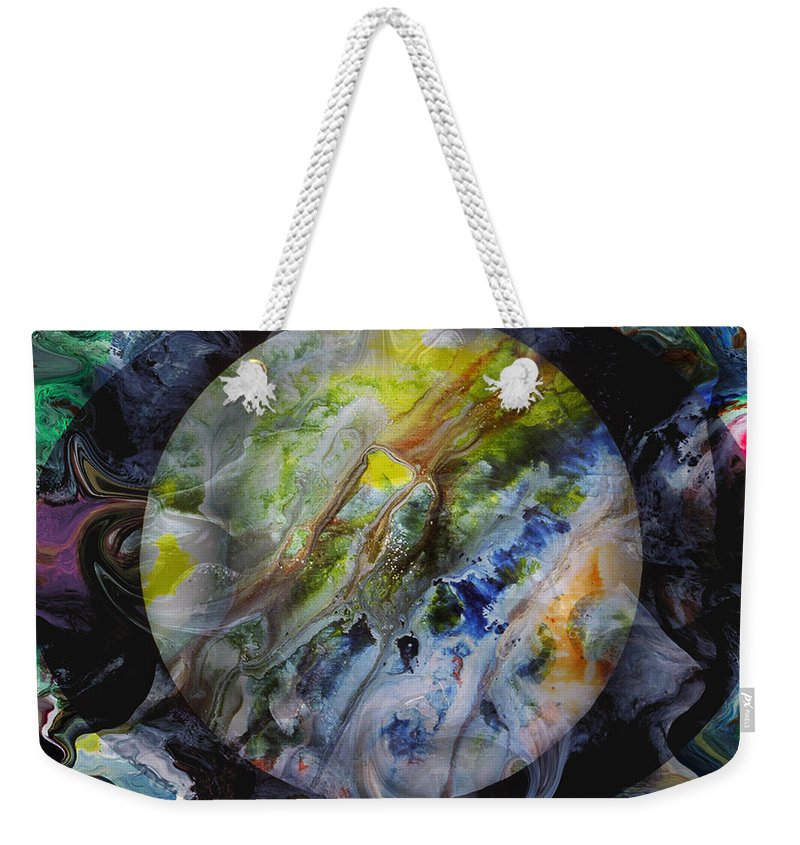 Surrealism Weekender Tote Bag featuring the digital art The Eye Of Silence by Otto Rapp