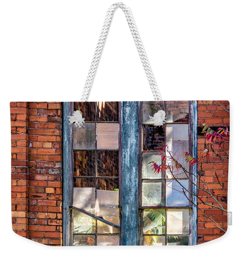 Autumn Weekender Tote Bag featuring the photograph The Factory Window by Steve Harrington
