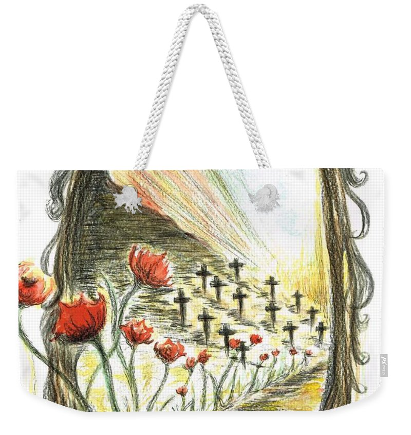 Teresa White Weekender Tote Bag featuring the painting 1st World War- Fallen by Teresa White