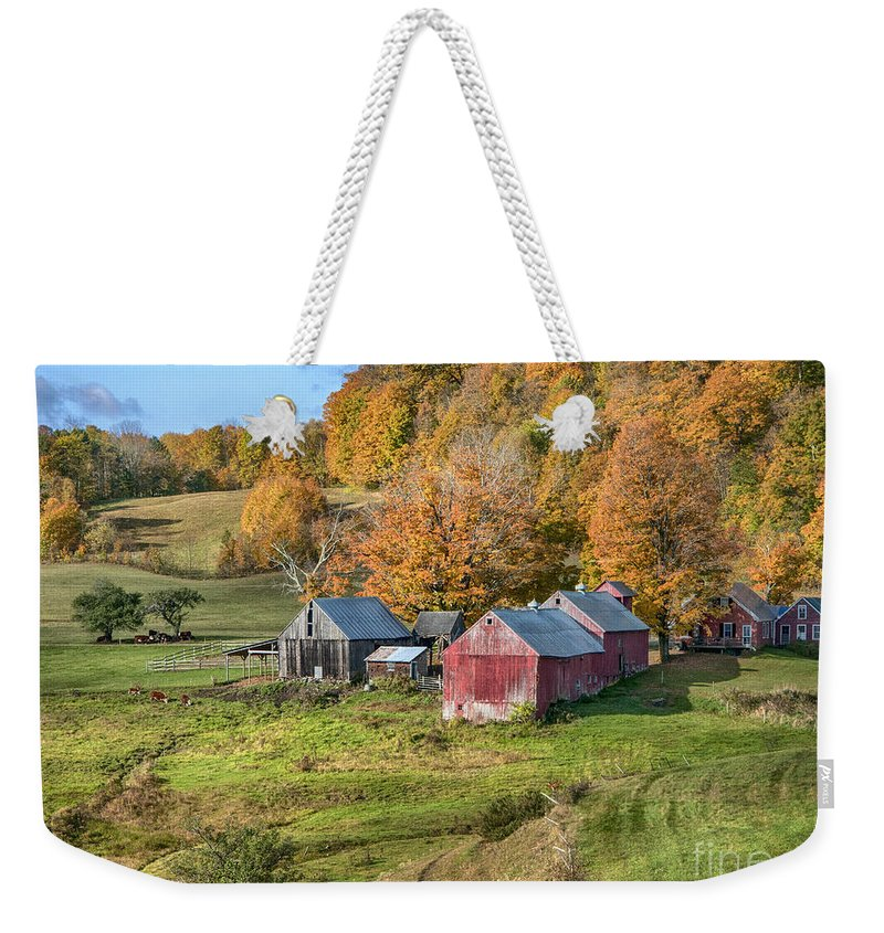 Jenne Farm Weekender Tote Bag featuring the photograph The Farm by Claudia Kuhn