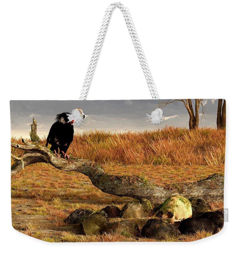 Vulture Weekender Tote Bag featuring the digital art The Feast Of Cannibals by Daniel Eskridge
