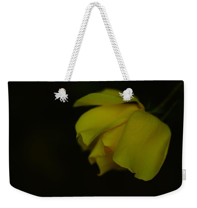 Flower Weekender Tote Bag featuring the photograph The Final Bloom by Jeff Swan