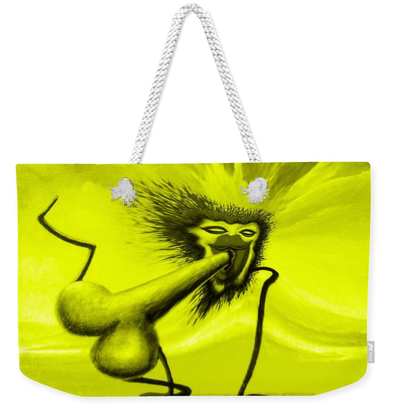 Genio Weekender Tote Bag featuring the mixed media The Finally Goal by Genio GgXpress