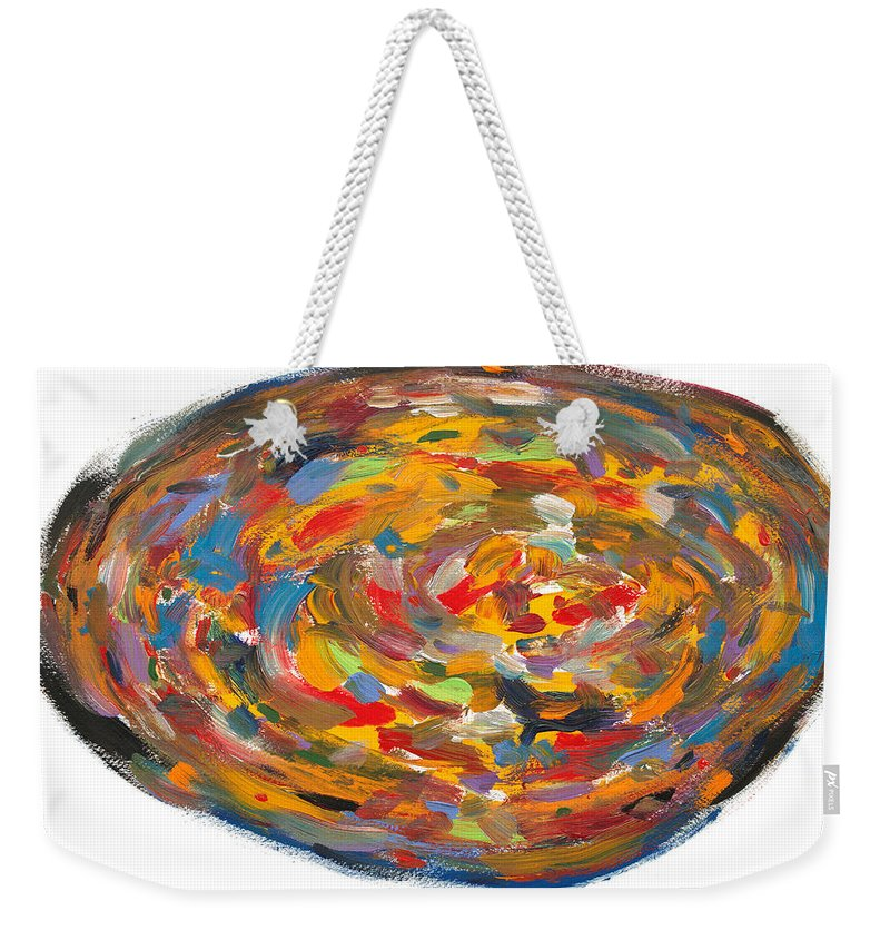 Pizza Weekender Tote Bag featuring the painting The Fine Art Of Pizza Making by Bjorn Sjogren