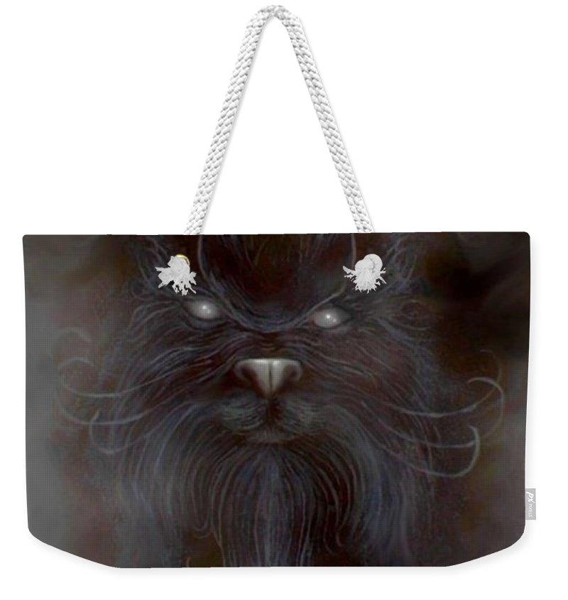 Weekender Tote Bag featuring the painting The First Spirit by Couture Yan-D