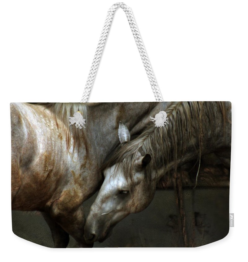 Horse Weekender Tote Bag featuring the photograph The Flamenco by Angel Ciesniarska