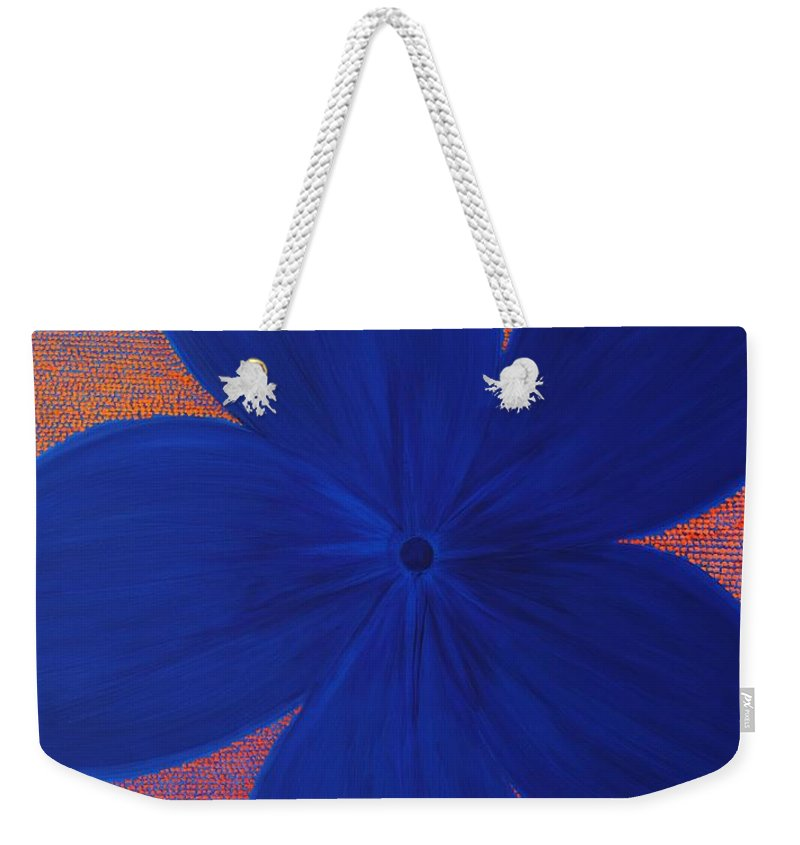 Flower Weekender Tote Bag featuring the painting The Flower by Kyung Hee Hogg