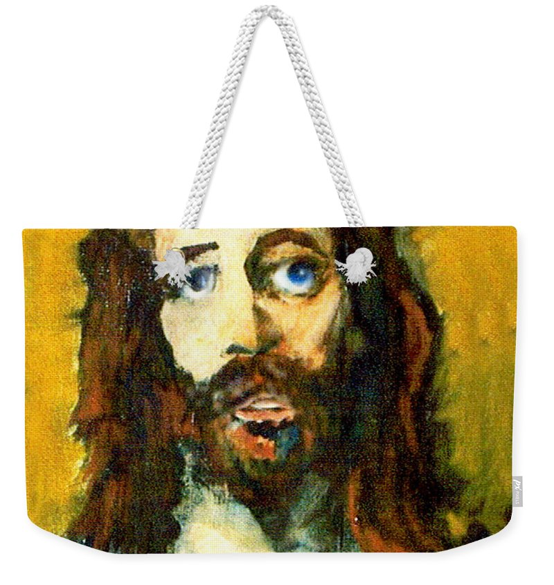 Jesus Christ Weekender Tote Bag featuring the painting The Galilean by Seth Weaver