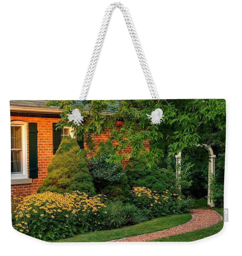 Steve Harrington Weekender Tote Bag featuring the photograph The Garden Path by Steve Harrington